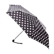 Fulton Miniflat 2 White Spot Compact Umbrella with Case